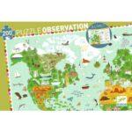 Puzzle Observation - Tour du Monde - 200 Pièces - Djeco