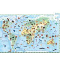 Puzzle 100 pièces - Les animaux du monde - Djeco