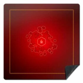 Tapis universel - Rouge - 92x92
