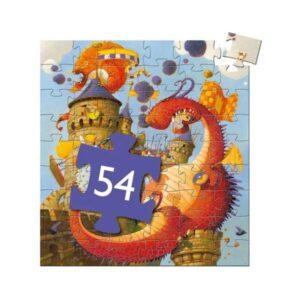 Puzzle 54 pièces - Vaillant et les Dragons- Djeco