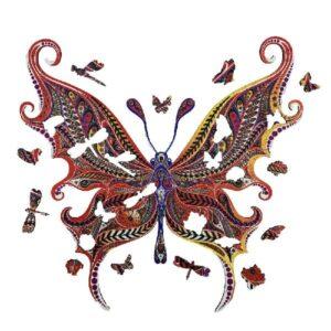 Puzzle en bois - Papillon Illusionniste