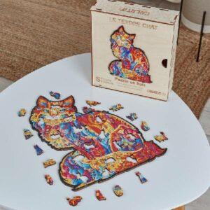 Puzzle en bois - Tendre Chat
