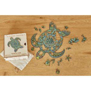 Puzzle en bois - La Tortue Tropicale - Goût du jeu Blois