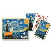 Jeu de cartes : Van Gogh : Nuit étoilée 2 x 55 cartes