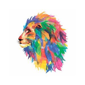 Puzzle Bois - Le lion Mozaik