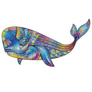 Baleine bleue - Puzzle en bois