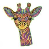 Puzzle en bois - L'amusante girafe